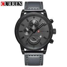 Curren Военный Кварц Для мужчин s часы лучший бренд роскошные кожаные Для мужчин часы Повседневное Спорт мужской часы Relogio Masculino