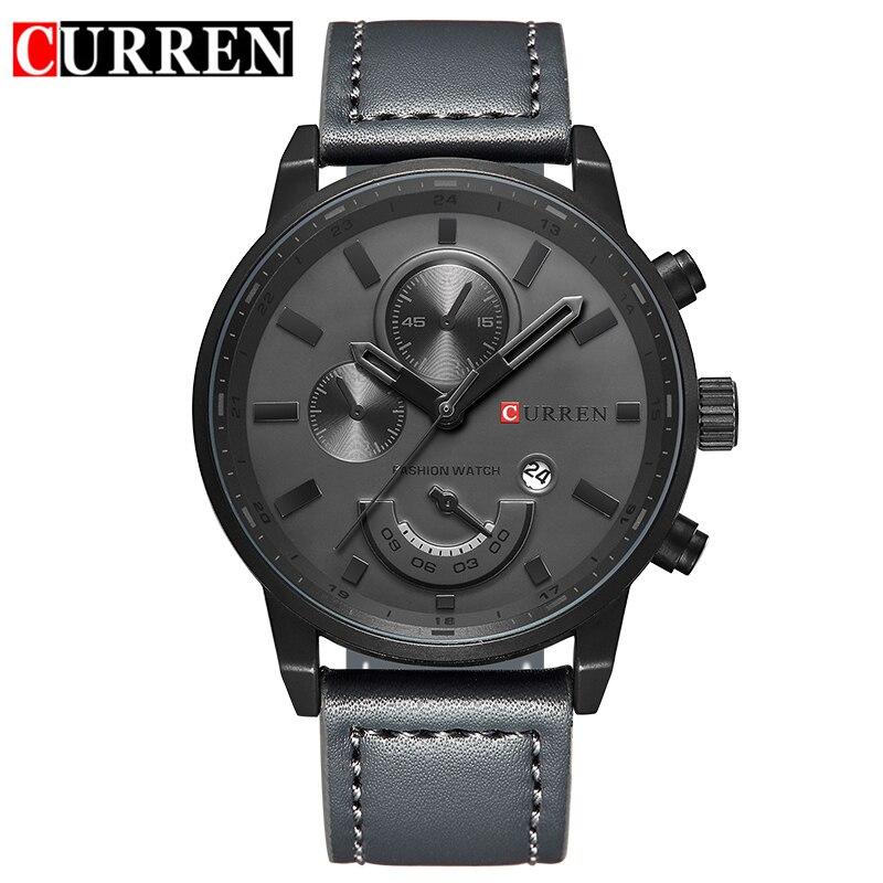 Curren Army Military Quarz Herren Uhren Top Brand Luxus Leder Männer Uhr Casual Sport Männlichen Uhr Uhr Relogio Masculino