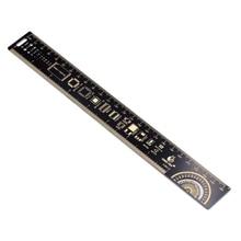 25 см PCB линейка для электронных инженеров измерительный инструмент резистор микросхема конденсатора IC SMD диодный транзистор PCB контрольная линейка