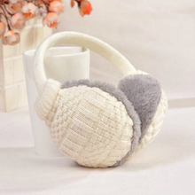 New Style Winter Earmuffs For Women Warm Unisex Ear Muffs Winter Ear Cover Knitted Plush Winter Ear Warmers Free Shipping