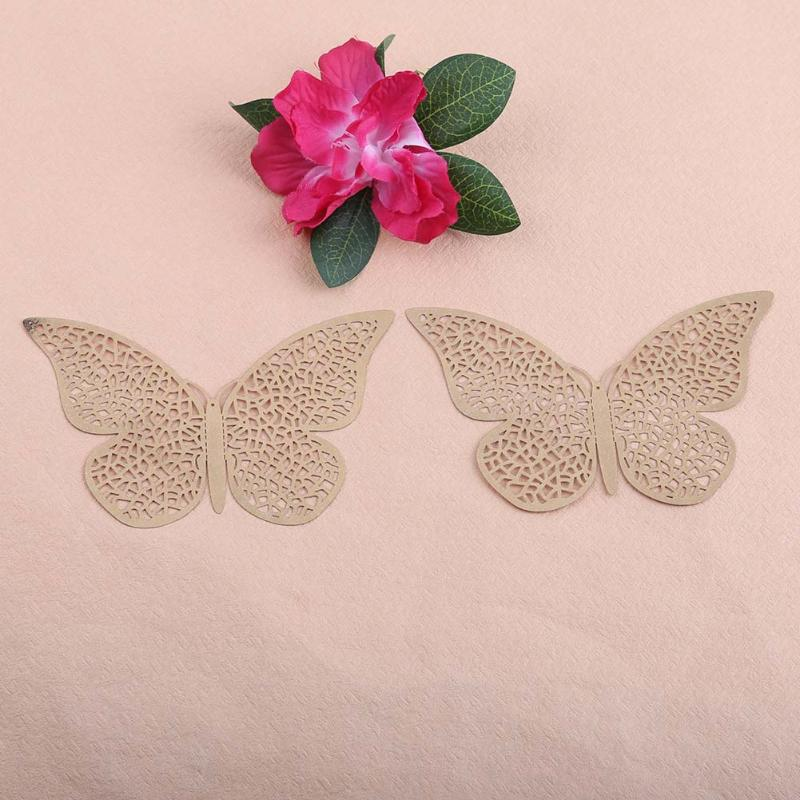Pcsset Hollow Butterfly Wall Stickers D PVC DIY Home Wall - Butterfly wall decals 3dpvc d diy butterfly wall stickers home decor poster for kitchen