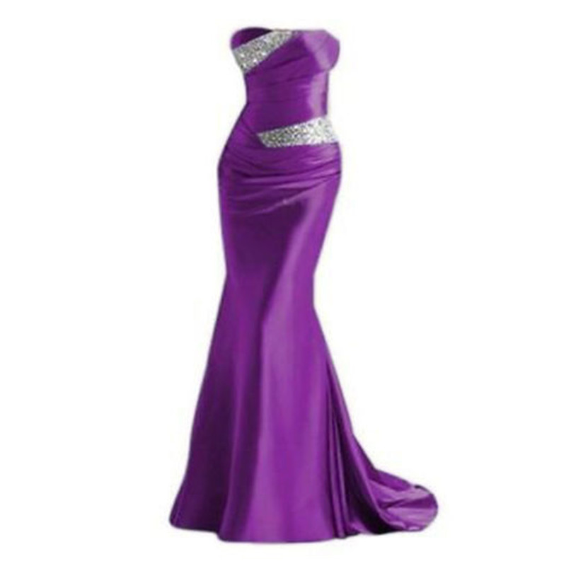 Mermaid Sweetheart Bridesmaid Dresses 2019 Party Gowns Long Formal Beaded Prom Robe De Soiree Wedding Guest Dresses In Stock