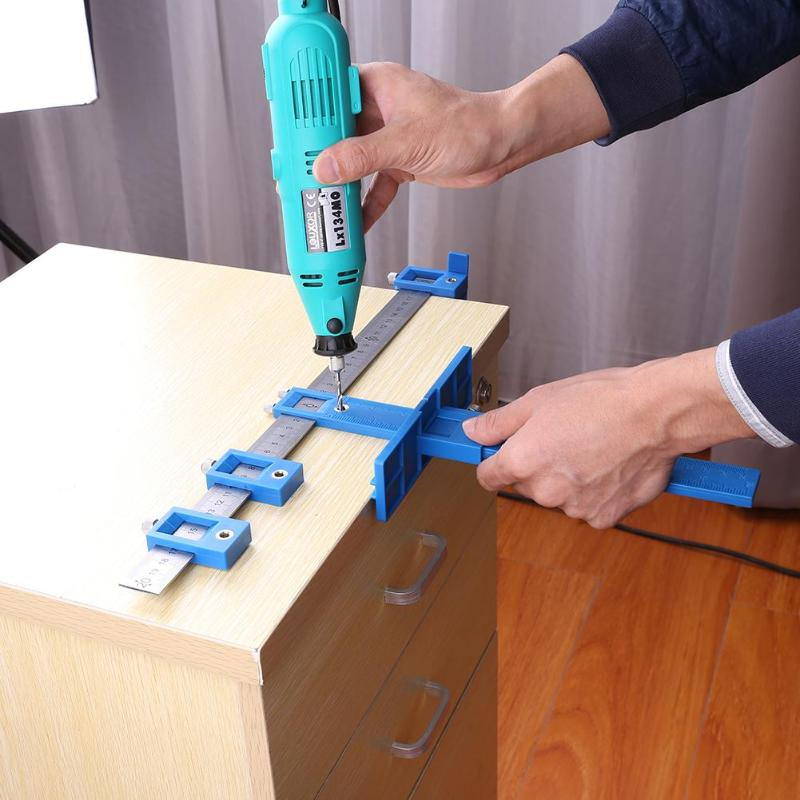 Punch Locator Drill Guide Sleeve Cabinet Hardware Jig For WoodWorking Dowelling