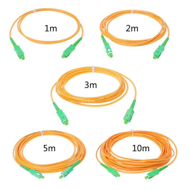 Câble de raccordement à Fiber optique SC/APC-SC/APC-SM 3mm cordon de raccordement à Mode unique 1 m, 2 m, 3 m, 5 m, 10 m
