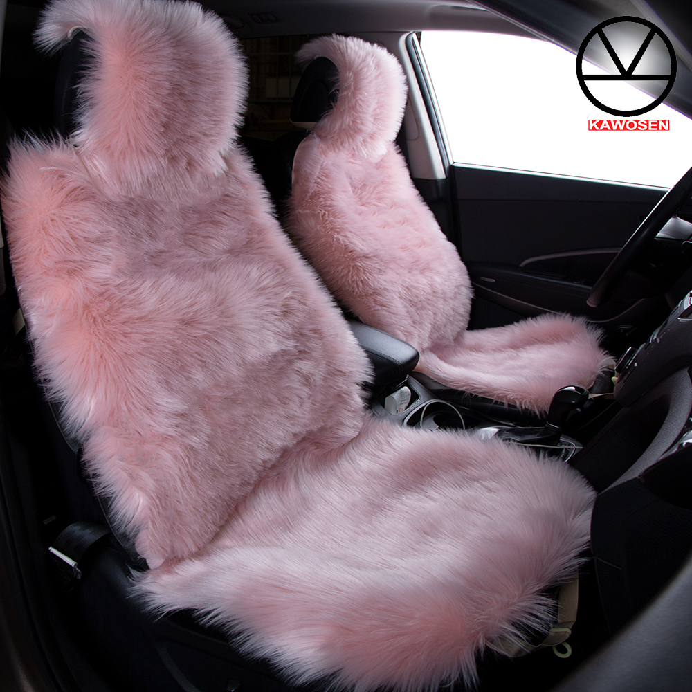 Awe Inspiring Us 46 12 17 Off Kawosen 2 Pcs Set Long Faux Fur Seat Cover Universal Artificial Plush Car Seat Covers 9 Color Cute Plush Seat Cushion Lffs02 In Pabps2019 Chair Design Images Pabps2019Com