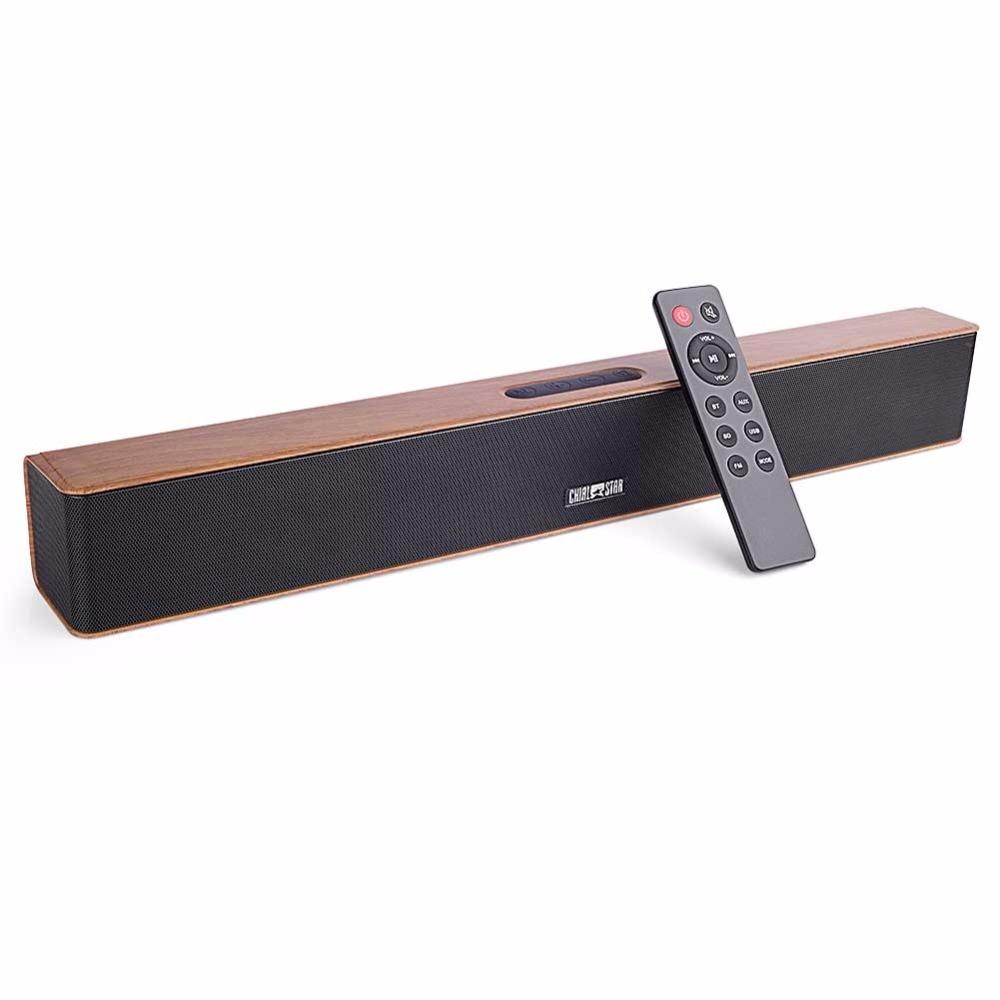 Деревянный Bluetooth Soundbar 24 Вт 2.0 Канал - Портативное аудио и видео