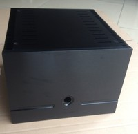 Height 200mm Black Full Aluminum Power Amplifier Chassis Class A Amplifier Chassis AMP Case Enclosure Box