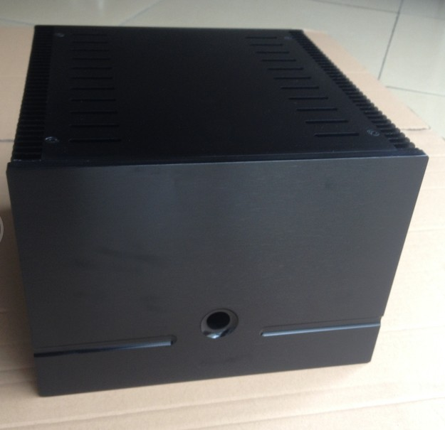 Height 200mm black Full aluminum Power amplifier chassis/Class A amplifier chassis/AMP case Enclosure/Box DIY(245*200*257mm) 1969 aluminum enclosure power amplifier chassis class a amp box dual heatsink