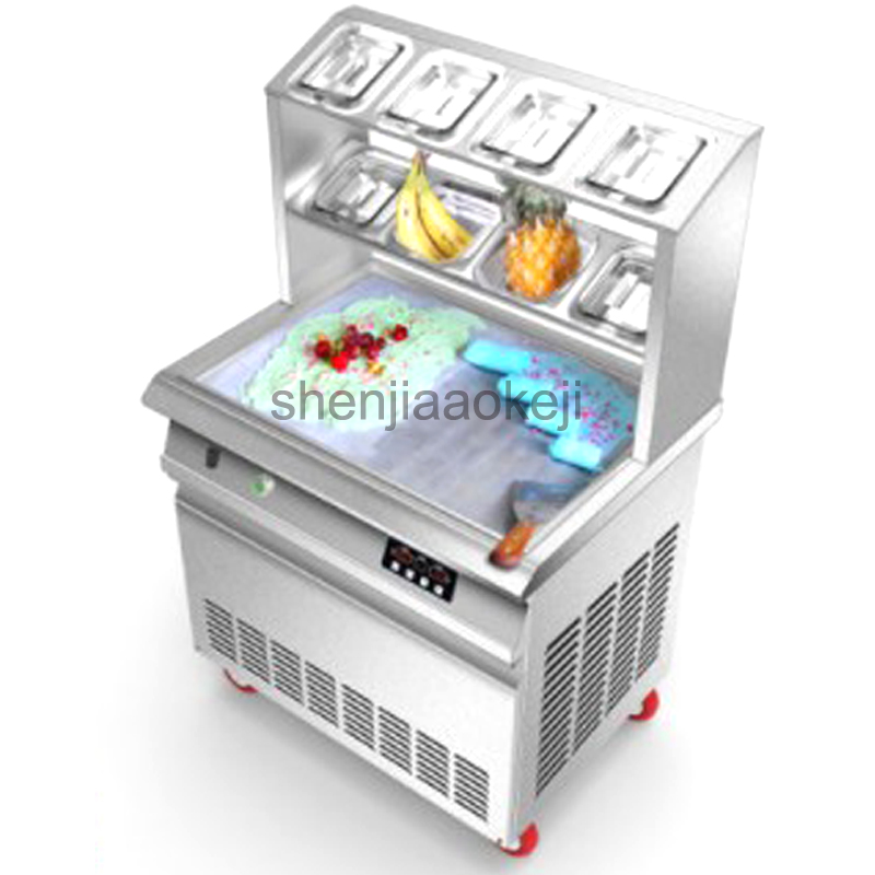Commercial Intelligent square pot fried ice machine Smart Stainless Steel Fried yogurt machine Fried ice roll maker25-35L/h  1pcCommercial Intelligent square pot fried ice machine Smart Stainless Steel Fried yogurt machine Fried ice roll maker25-35L/h  1pc