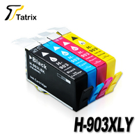 For HP 903 XL 903XL BK C M Y New Full Ink Cartridge For HP Officejet