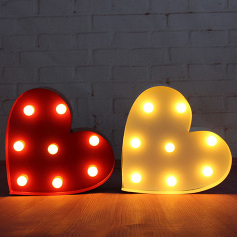 10inch metal heart shape LED Marquee Sign LIGHT UP  Vintage signs light valentine's day gift wedding Indoor Deration metal bar led marquee sign light up vintage signs light bar indoor deration