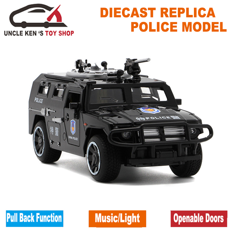 1/32 Scale Model Diecast GAZ Tiger, 15Cm Metal Replica Car, Boys Kids Alloy Toys With Gift Box/Sound/Light/Pull Back Function