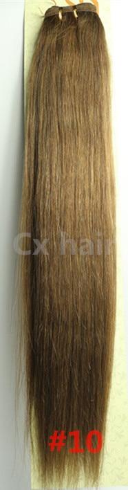 #10 161820222426283032 silk soft remy brazilian human hair extensions human hair weft weaving 100g/pcs