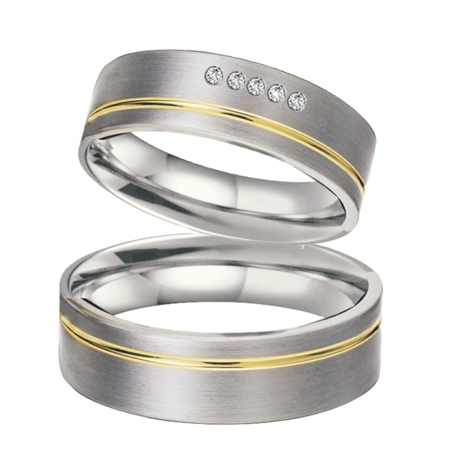 Unique His And Hers Couples Ring Pair Set Alliance Wedding Band Love