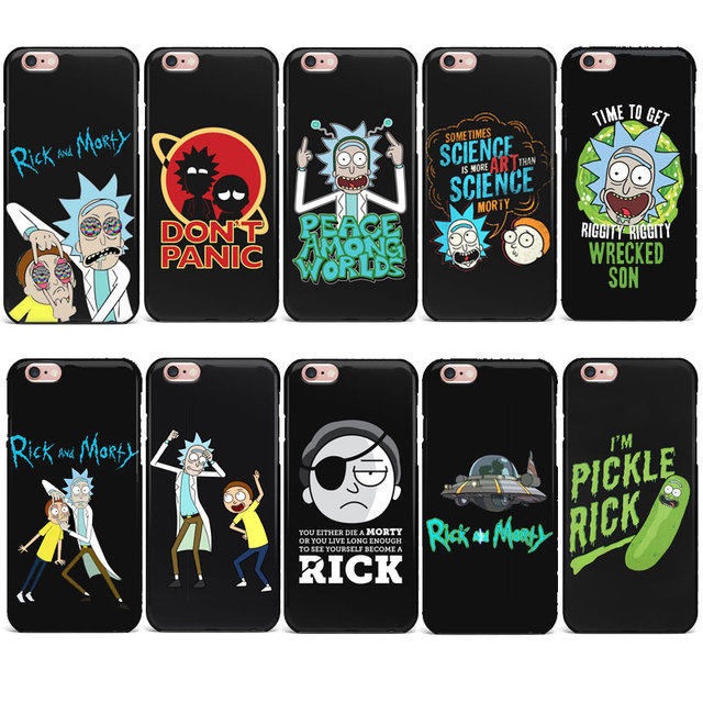 cheap for discount 2ae1c 79390 US $0.81 46% OFF|Funny Rick and Morty Cartoon anime phone Case For iPhone 7  4 5S SE 6s 8 plus Soft TPU Silicone Cover For iPhone X XR XS MAX Case-in ...