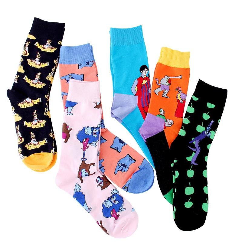 Underwear & Sleepwears United Men Funny Colorful Animal Novelty Socks Casual Cotton Happy Socks Dress Wedding Socks Clacetines Hombre Divertidos