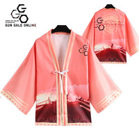 Japan Anime Cosplay Costumes Kimono Sword Art Online Gun Gale Online GGO Yukata Unisex Outerwear Women's Coat Daily Haori