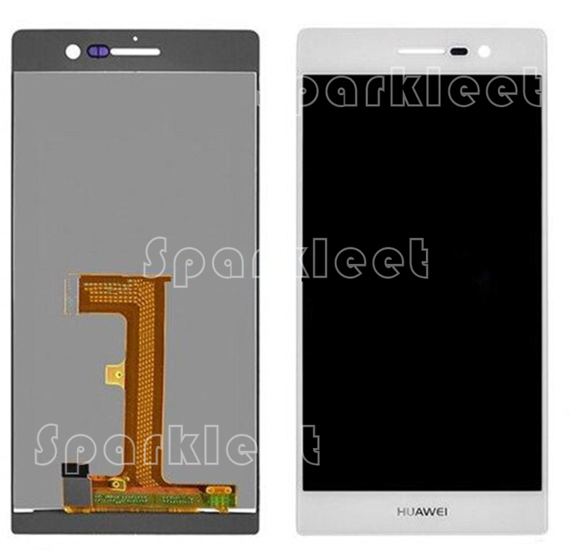 ФОТО Tested LCDs For Huawei Ascend P7 LCD Display +Touch Screen Digitizer Black&White Assembly Repair Parts Free Shipping
