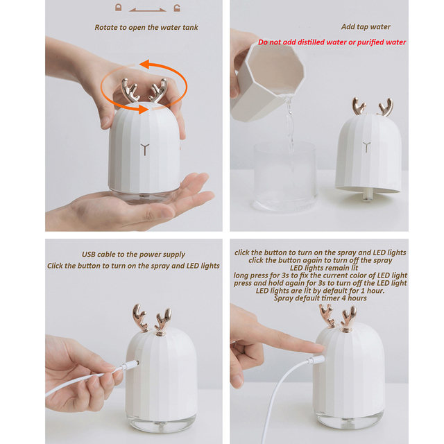 Youpin Y Mini USB Ultrasonic Mister Aroma Essential Diffuser Aromatherapy Car Air for Office Home LED Night Light