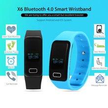 Smart Band X6 сердечного ритма Мониторы SmartBand IP67 Водонепроницаемый браслет Спорт Bluetooth браслет Фитнес трекер для андроид iOS