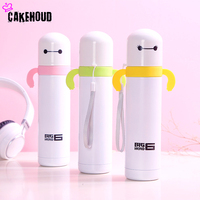 CAKEHOUD 360ml Cute Mini Thermos Cup Cartoon Style Lovely Stainless Steel Mug Portable Travel Vacuum Cup