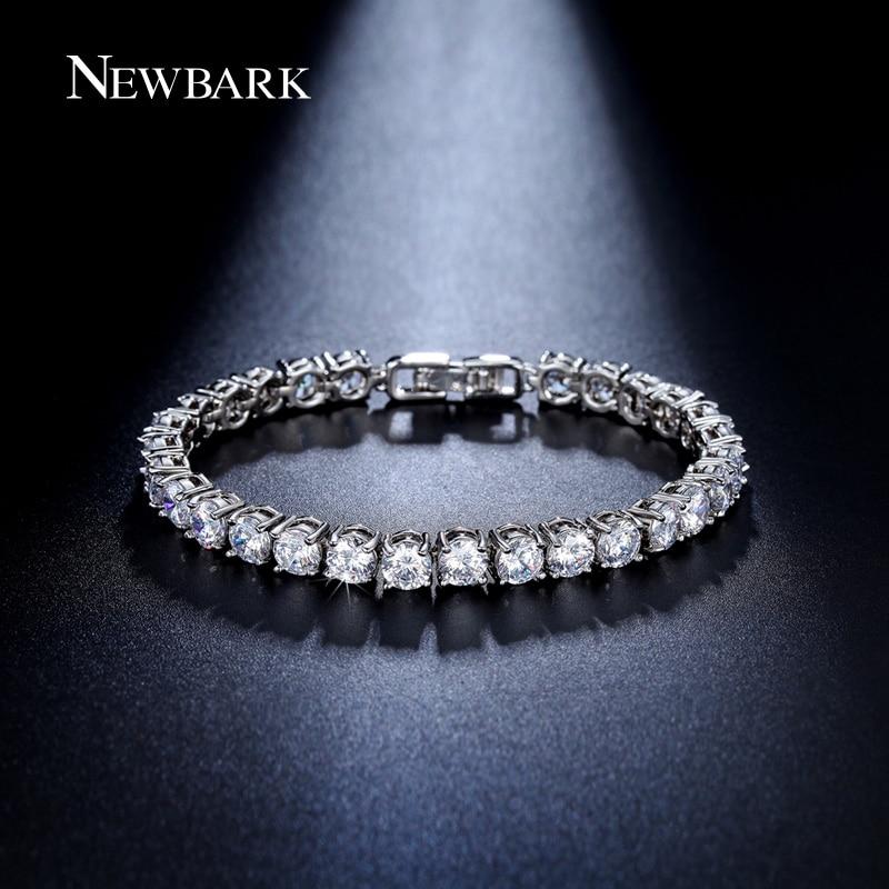 EWBARK Charm AAA Round 0 5 carat Cubic Zirconia Tennis font b Bracelet b font for