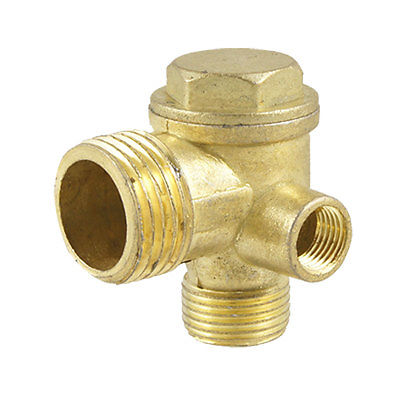 Metal Air Compressor Check Valve Replacement Gold Tone 13mm male thread pressure relief valve for air compressor