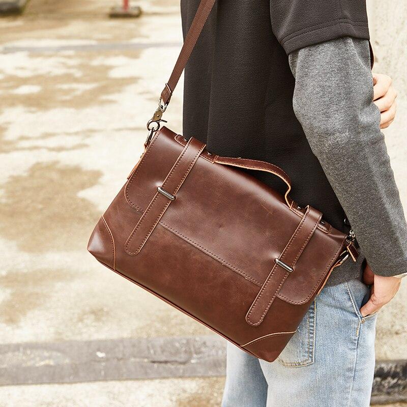 GUMST Crazy Horse Leather Men's Briefcase Messenger Bag for Gentlemen Document case Portfolio Office Bag 1