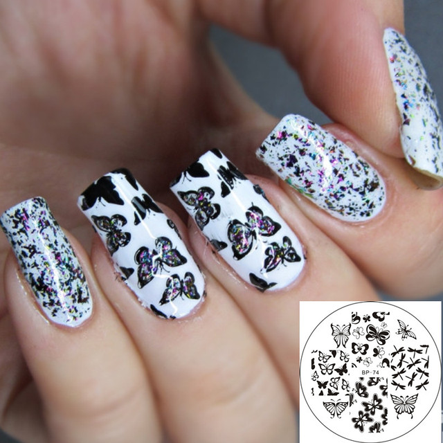 1 Pc BORN PRETTY BP74 Various Butterfly Design Nail Art Stamping ...