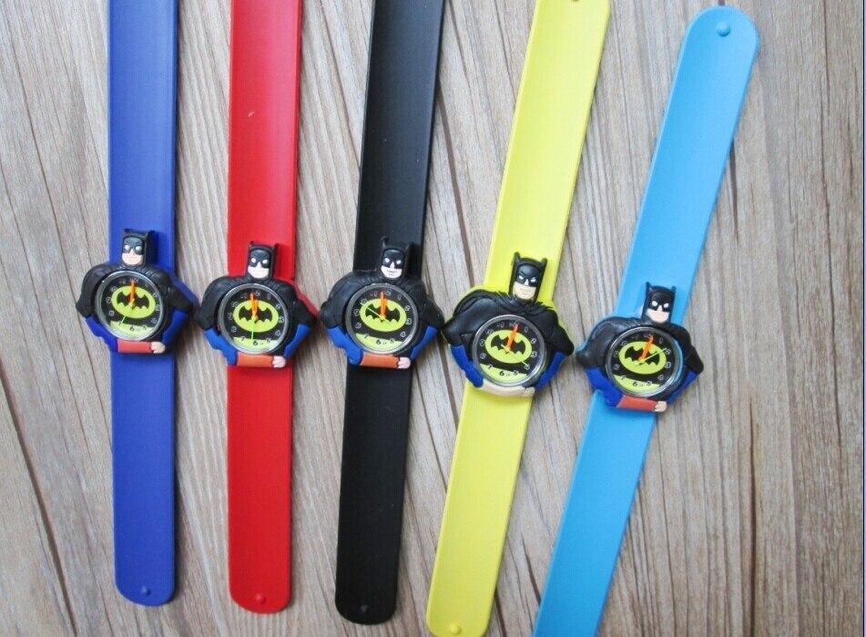 Kids Slap Watches Children Cartoon Slap Silicone Batman Watches For Kids  10pcs/lot