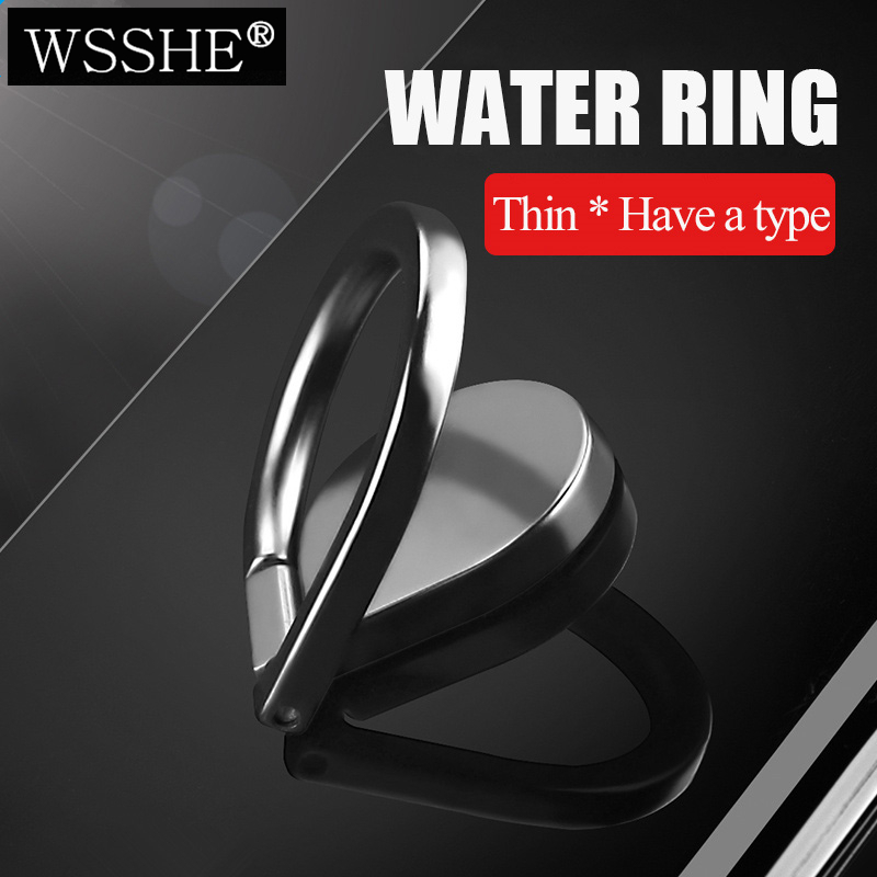 WSSHE Finger Grip Ring Zinc Alloy Ring Stand Kickstand Metal Phone Grip Ring Holder For IPhone & Tablet & All Smart Phone