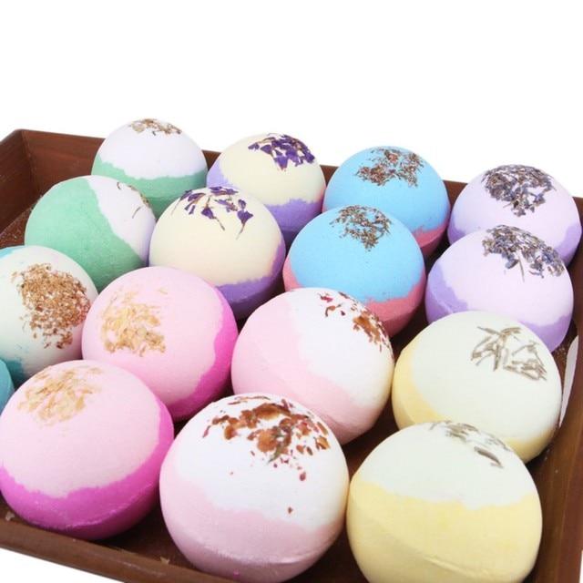 Hot Sell Dry Flower Moisturizing Bubble Bath Bomb Ball Essential Oil Bath SPA Stress Relief Exfoliating Bath Salt Bathing 1