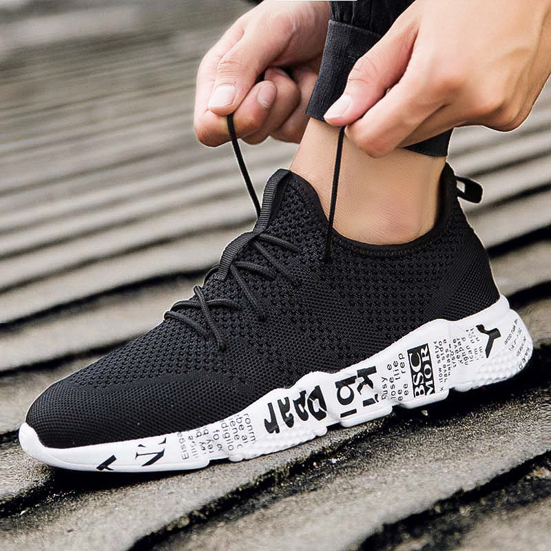 Summer Men's Sneakers 2019 Sport Shoes Man Breathable Mesh Running Shoes Damping Trainers For Male Calzado De Hombre Sneakers