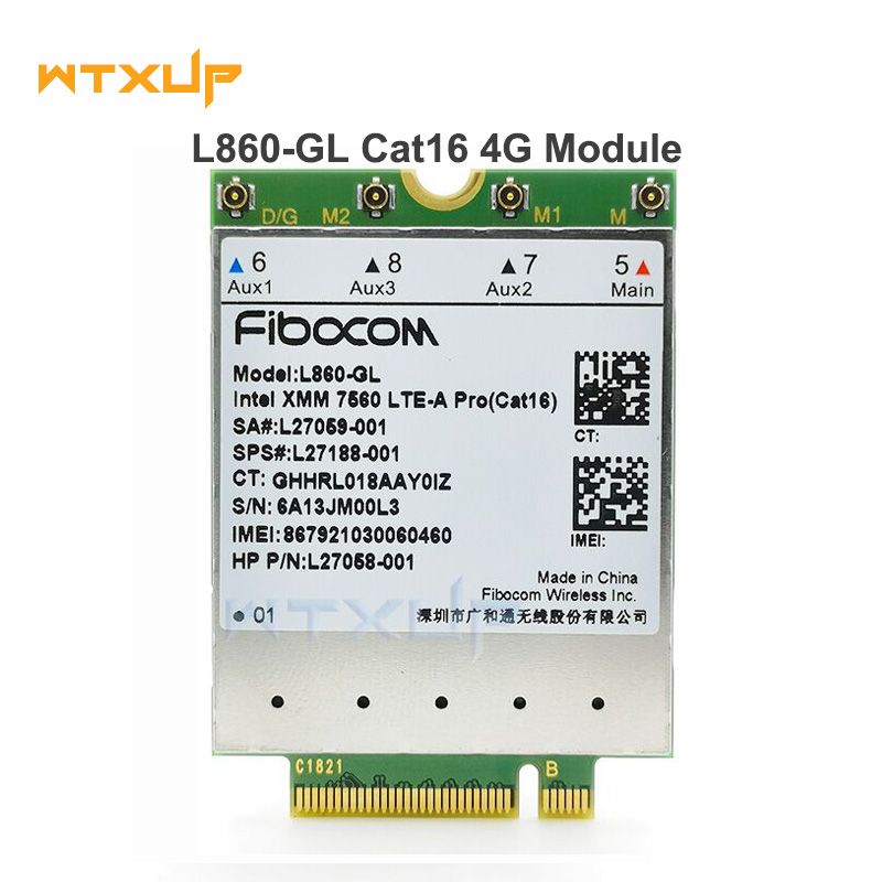 FDD-LTE TDD-LTE Cat16 for Fibocom L860-GL 4G Module 4G Card SPS#L27188-001 4G Card For HP laptop(China)