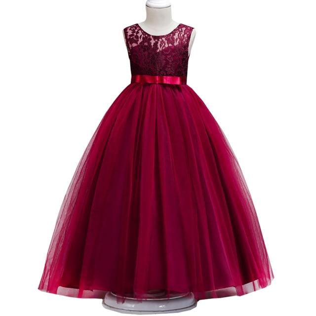 Children S Sleeveless Lace Wedding Dress Girls Piano Show Dress Girl