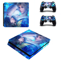 Final fantasy Desgin Sticker Cover for PS4 Slim Skin For Playstation 4 Slim Console 2Pcs Vinyl Decal For PS4 Silm Controller