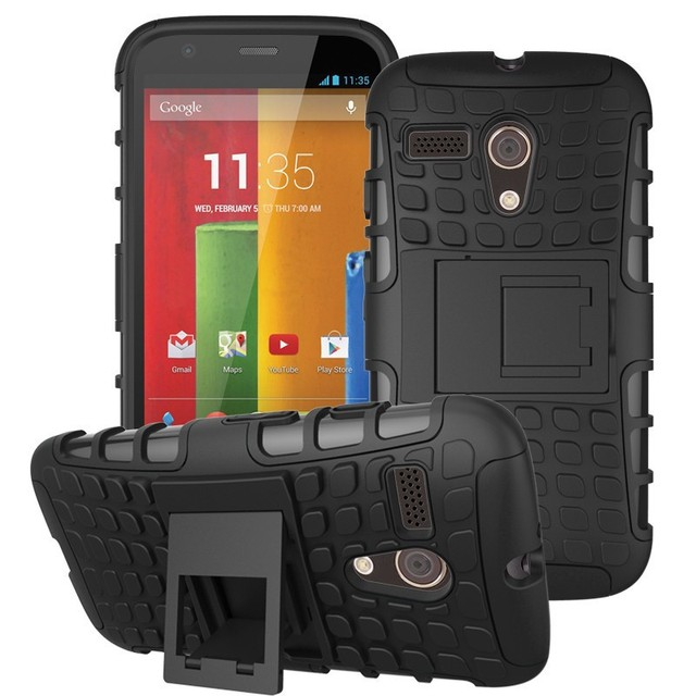 For Motorola Moto G 1st Gen Case Hybrid Kickstand Hard Shockproof 2 In1 With Stand Function Cover Cases For Moto g XT1031 XT1032