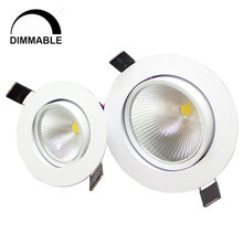 1pcs 5w / 10w cob down light recessed lighting led ceiling light home light white  and warm white nature white Dimmable