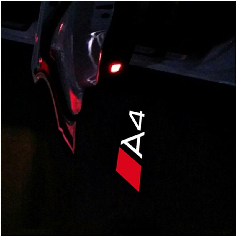 2x Led Car Door Light Logo Projector Ghost Shadow Light Car Welcome Light For Audi A3 A4 A6 A5 B4 B5 B6 C4 C5 C6