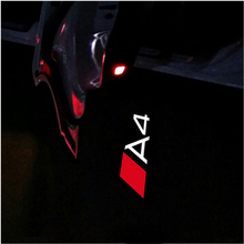 2x Led Car Door Light Logo Projector Ghost Shadow Welcome For Audi A3 A4 A6 A5 B4 B5 B6 C4 C5 C6