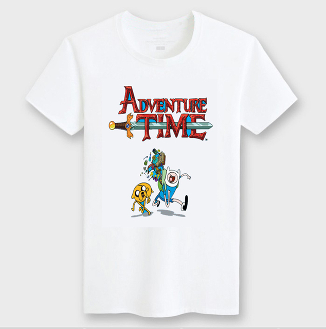 2016 New Cartoon Adventure Time T Shirt Boys Girls Clothes Cotton
