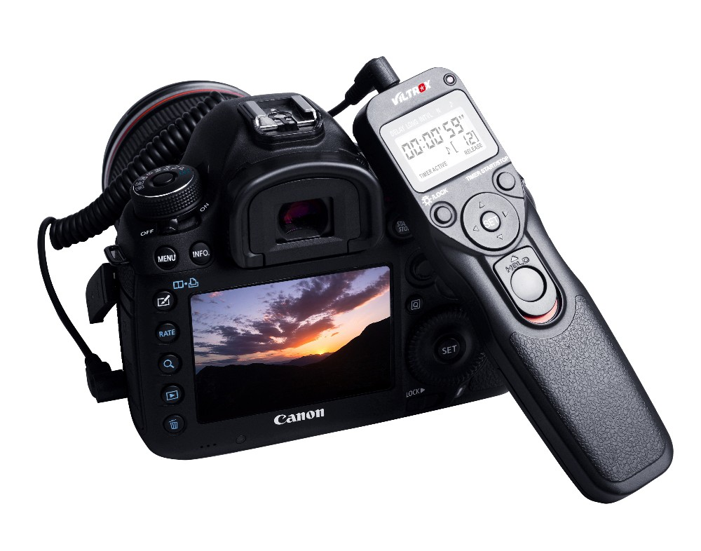 VILTROX Timer Remote Control Shutter Time Lapse Intervalometer with C1 Cable used for Canon 80D 70D 60D 760D 750D 600D 650D G1X