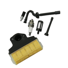 Air Filter + Spark Plug + Fuel / Oil Line Filter for STIHL 021 023 025 MS210 MS230 MS250 Chainsaw Replacement, Lawn Mower Parts