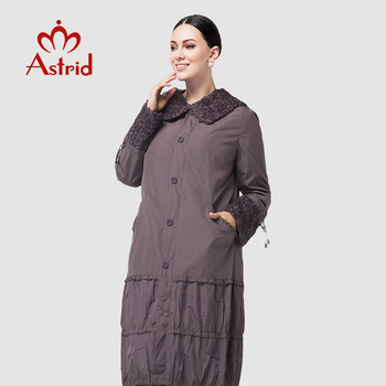 Astrid 2019 Trench Coat for Women Plus Size Women Windbreaker Spring and Autumn Coat Big Size women long coat AS12-8162