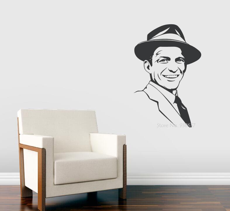 3d Affiche Célèbre acteur Autocollants Frank Sinatra Vinyle Stickers Muraux Auto-Adhésif Wall Sticker Amovible Décor Salon ZA662