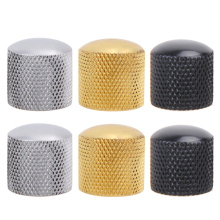 4pcs Metal Electric Bass Guitar Volume Tone Control Knobs Dome Knobs Guitar Parts with Hole Guitar Parts & Accessories 3 Colors