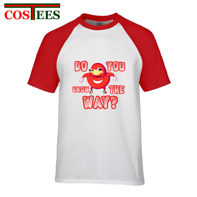 c08ee568 Cute Internet meme funny T shirts men do you kno de wae kawaii Ugandan  Knuckles t-shirt do you know the way viral meme Tee shirt