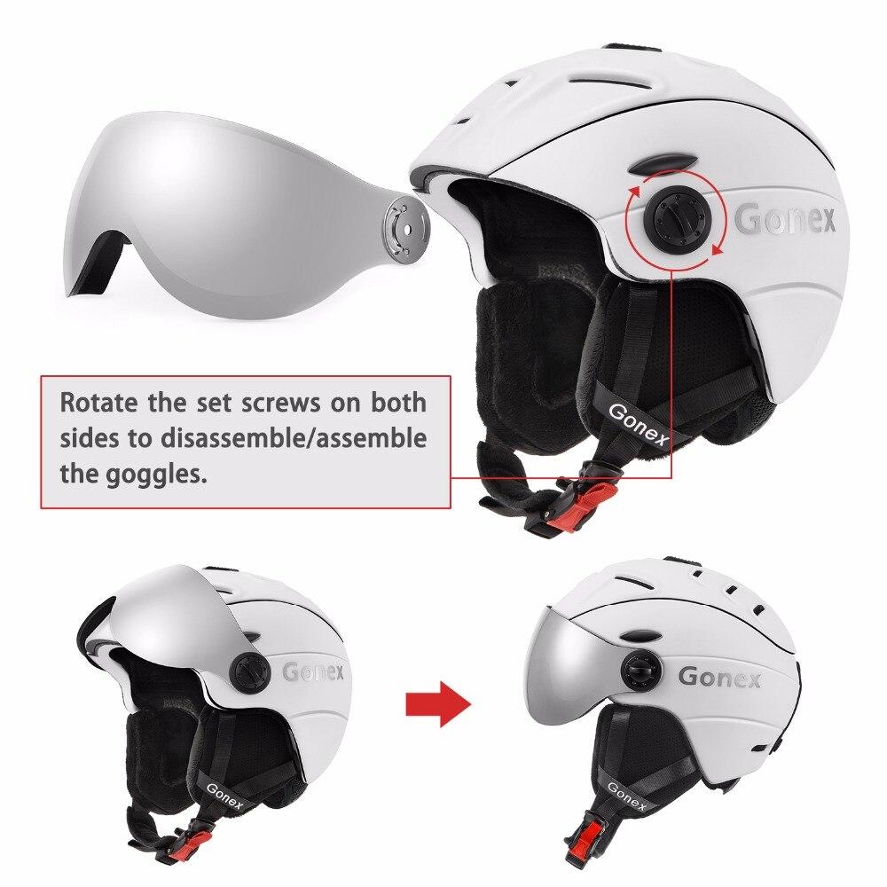 3248898722925 Gonex 2019 Pro Certificado de Segurança Capacete com Óculos De Proteção de  Esqui Snowboard Capacete Integralmente moldado para Das Mulheres Dos Homens  de ...
