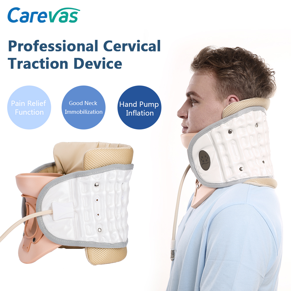 Carevas Cervical Neck Traction Device Inflatble Air Traction Therapy Pain Relief Neck Brace Support CE & FDA Approved(China)