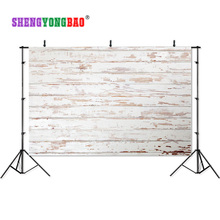 SHENGYONGBAO Art Cloth Digital Printed Photography Backdrops Wood planks theme Prop Photo Studio Background JUT-1592